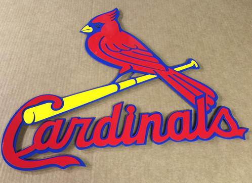 precision cut cnc multi layered st louis cardinals logo all items are made to order processing is usually 5 to 10 days per order