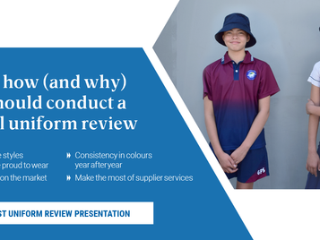 Here's how (and why) you should conduct a school uniform review...