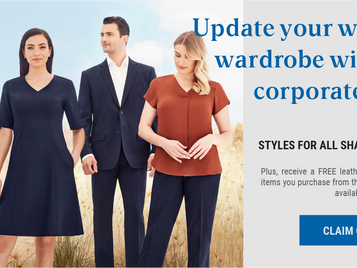 Update your working wardrobe with new Biz Corporate stock range - EOFY introductory offer...