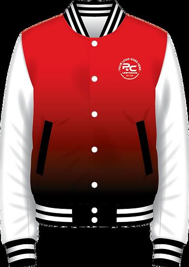 School Winter Fleece Varsity Jacket Front View Sublimated