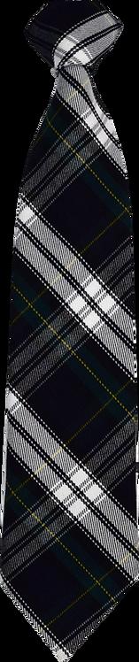 School Boys elastic loop tie check pattern