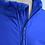 Water resistant fleece zip jacket blue front detail view
