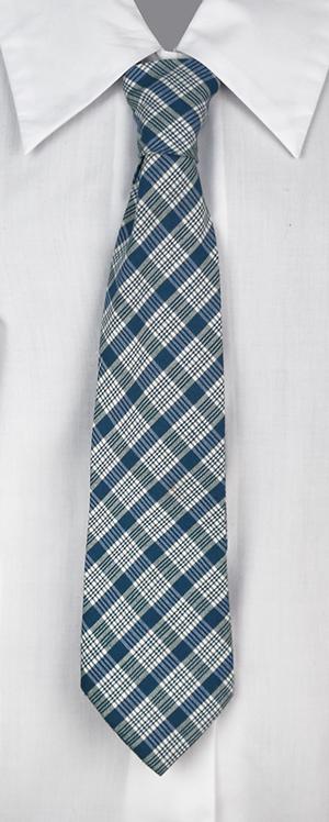School Girls Tie Blue Check Pattern
