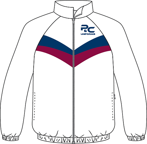 Sublimated Sport Jacket Front View white