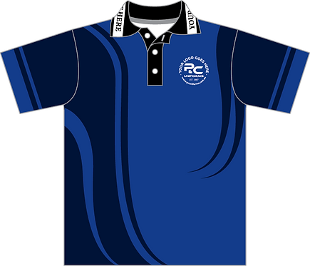 Sublimated Sports House Polo Front View Blue