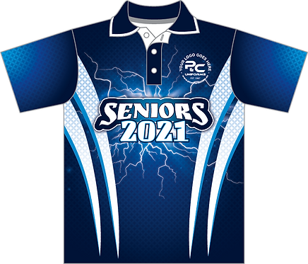 Sublimated Senior School Leavers Graduation Polo Front View