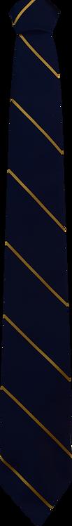 School Boys navy tie gold stripe