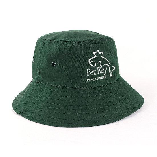 School Bucket Hat Green Front View