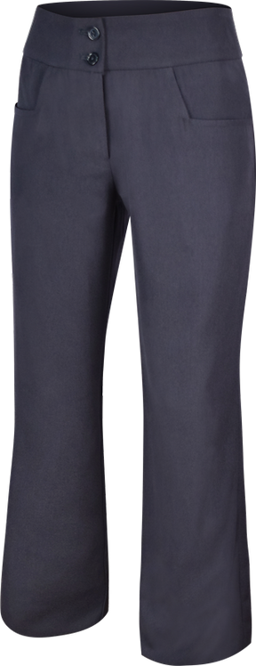 Ladies Flat Front School Pants Front View