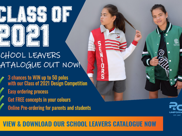 Class of 2021 catalogue out now: get designs in your colours PLUS win polos for your school!