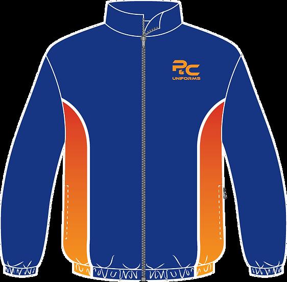 Sublimated Sport Jacket Front View blue orange