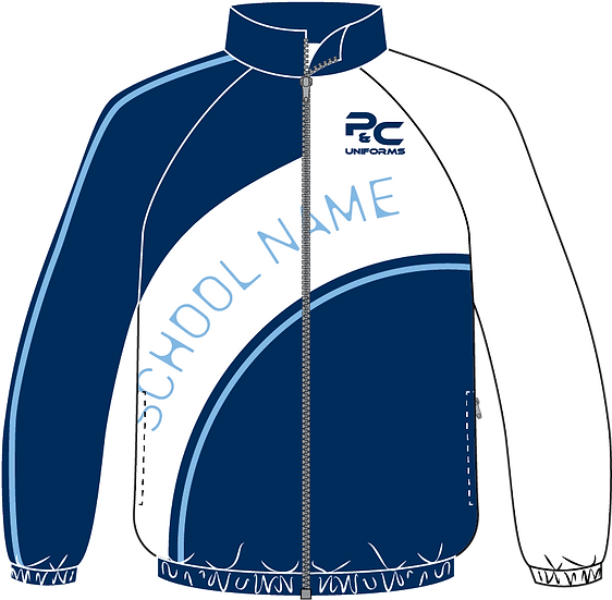 Sublimated Sport Jacket Front View blue white