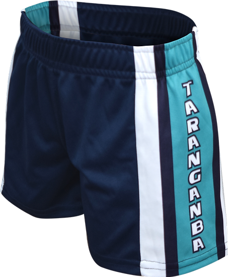 School Sublimated Rugby League Shorts Front View