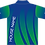 Sublimated Sports House Polo Back View Green Blue