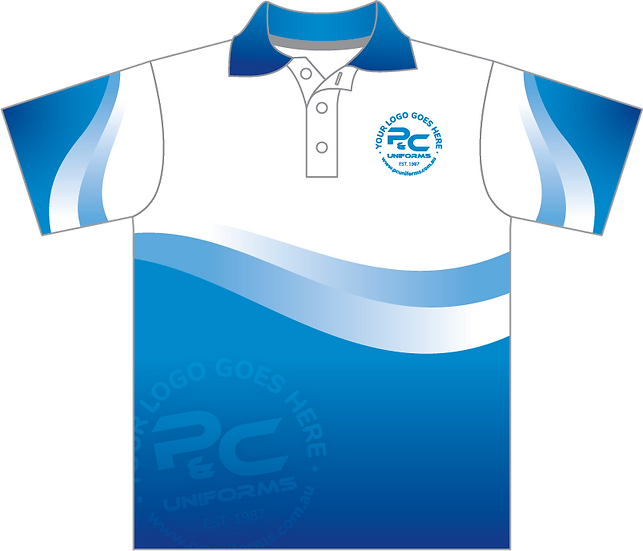 Sublimated School Staff Polo Front View