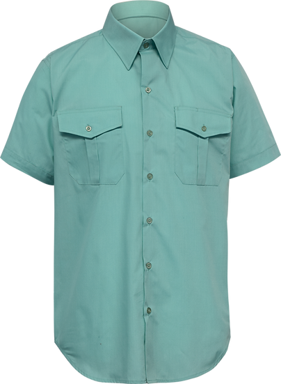 Twin Pocket School Shirt Front View
