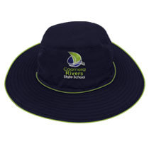Wide Brim Hat With Piping Front View