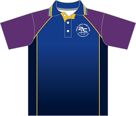 Sublimated Sports House Polo Front View purple