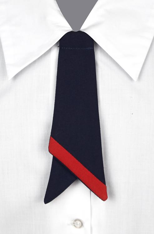 School Girls Button-On Tie Navy