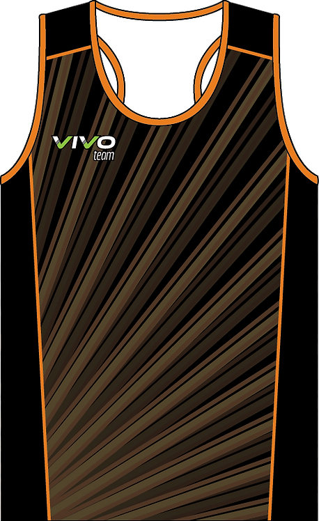 Sublimated Teamwear Triathlon Singlet Front View