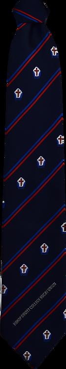 School Boys navy tie blue and red stripe