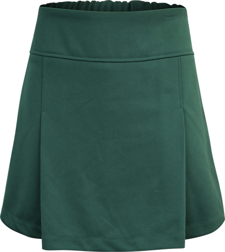 Front Pleated Elastic Back School Skort Front View