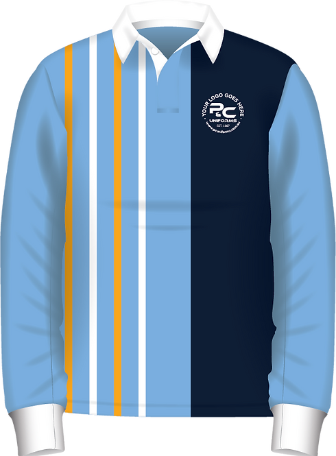 Old School Rugby Jersey Knit Jumper Front View