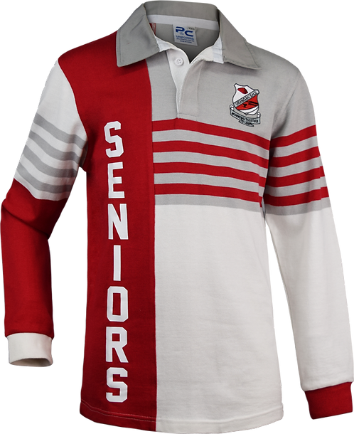 Old School Leavers Rugby Jersey Knit Jumper Front View