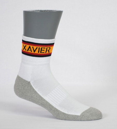 half terry school sock contrast banded side view