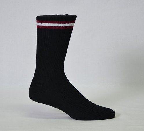 School sock banded side view