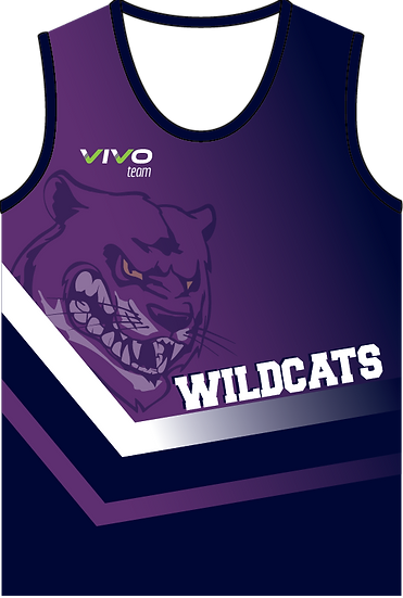 Sublimated Teamwear Athletic Singlet Front View