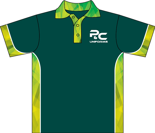 Sublimated School Senior Polo Front View