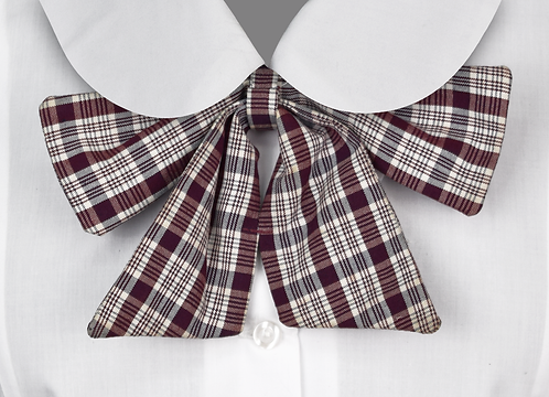 School Girls Button-On Bow Tie