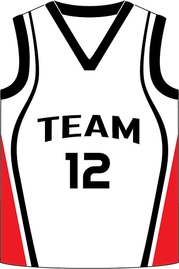 Sublimated Teamwear Basketball Singlet Front View