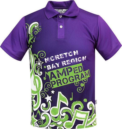 Sublimated School Music Polo Front View