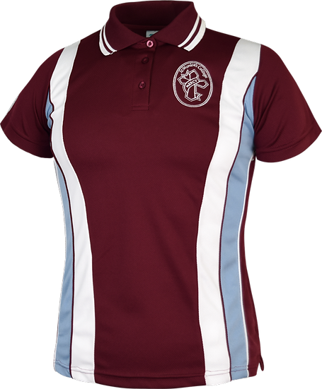 School Female Panel Polo Front View