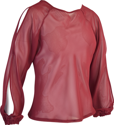 Cantabile Music Blouse Burgundy Front View