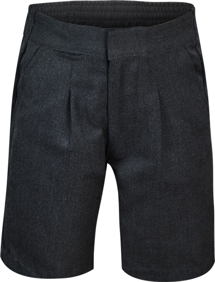Junior Single Pleat School Shorts Front View