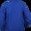 Water resistant fleece zip jacket blue back view
