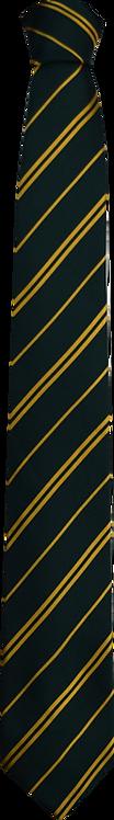 School Boys black tie gold stripe