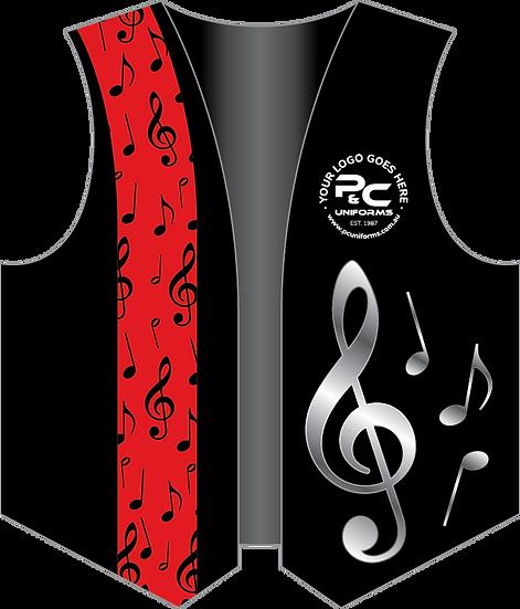 Sublimated School Music Vest Front View