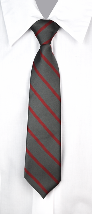 School Girls tie grey red stripe