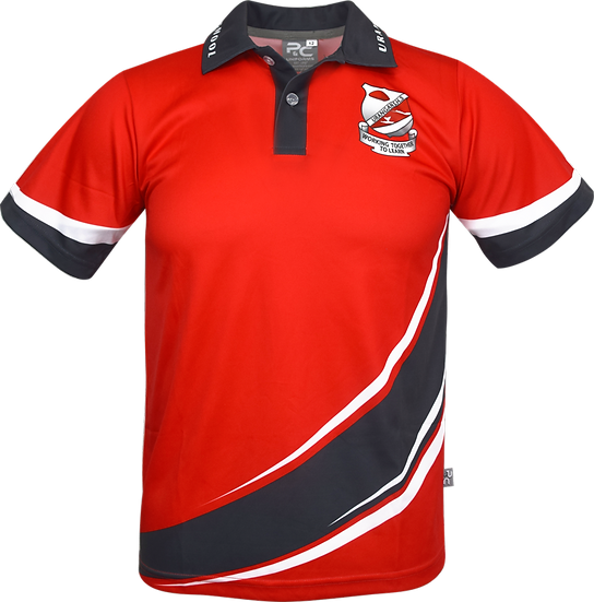 Sublimated School Polo Front View Urangan High School Sports Polo