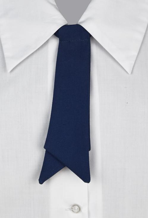 School Girls Button-On Tie blue