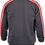 V-Neck Fleece Jumper with shoulder sleeve panel grey back view