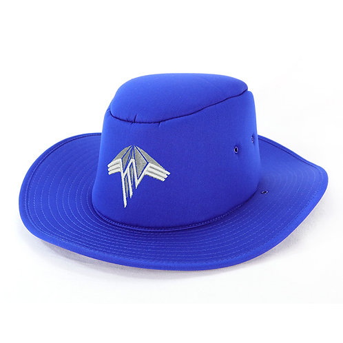 School Foam Hat Front View Royal Blue
