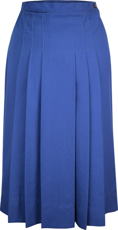 Pleated Front and Back School Skirt Front View