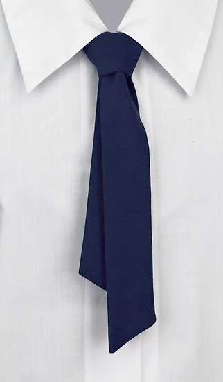 School Girls Button-On Tie blue