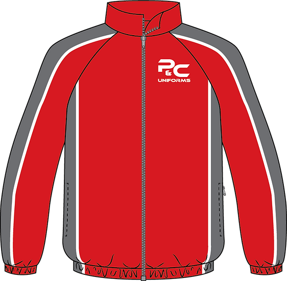Sublimated Sport Jacket Front View red grey