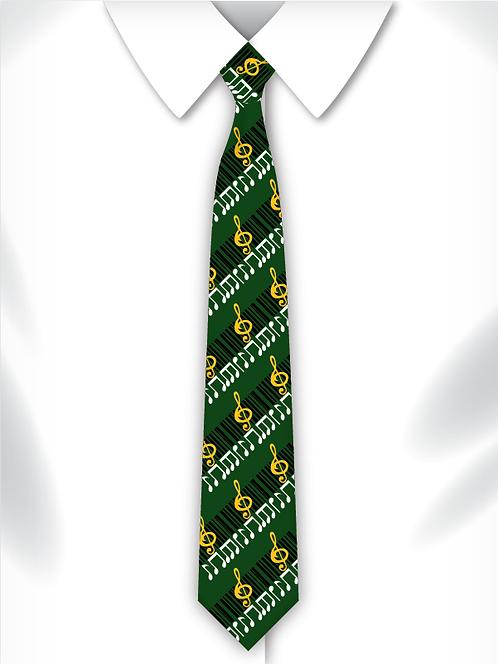 Sublimated School Music Tie Design